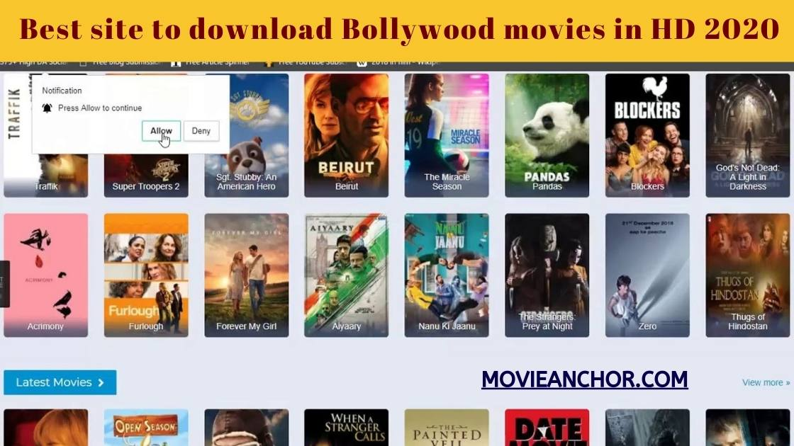 Best site to download Bollywood movies in HD 2021