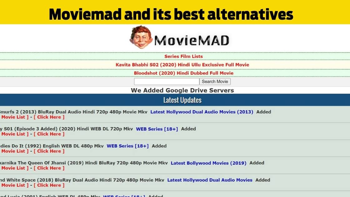 Moviemad 2020 and its best alternatives